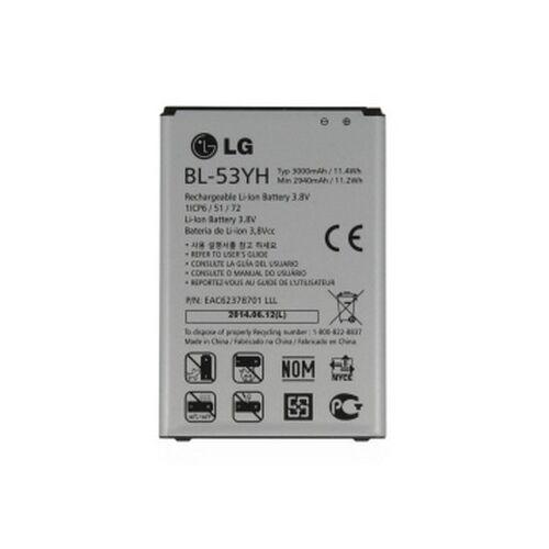 Gyári típusú akkumulátor LG G3 (D855) típusú készülékhez, 3000 mAh (BL-53YH)