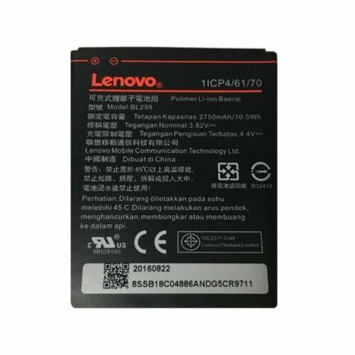 Gyári típusú akkumulátor Lenovo Vibe K5 típusú készülékhez, 2750 mAh (BL259, 1/CP4/61/70)