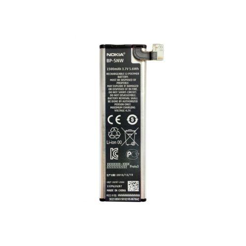 Gyári típusú akkumulátor Nokia típusú készülékhez, 1500 mAh (BP-5NW)
