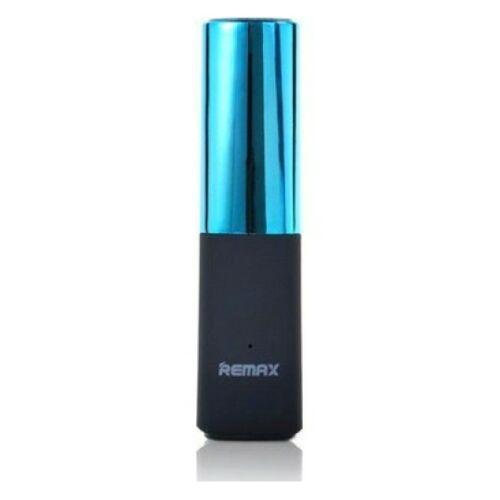 Remax Lipstick, rúzs alakú Power Bank, külső akkumulátor 2400 mAh-s (RPL-12), kék