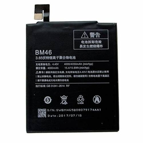 Gyári típusú akkumulátor Xiaomi Redmi Note 3 típusú készülékhez, 4000 mAh (BM46)