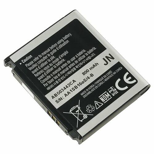 Gyári típusú akkumulátor Samsung D900, D900B, D900i, D908, E690, E780 típusú készülékhez, 800 mAh (AB503442CU, AB503442CA)