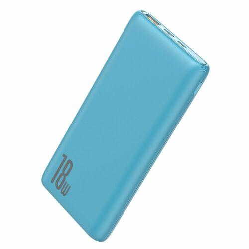 Baseus Bipow Power Bank 18W, külső akkumulátor 10000 mAh-s 2xUSB (PPDML-03), kék