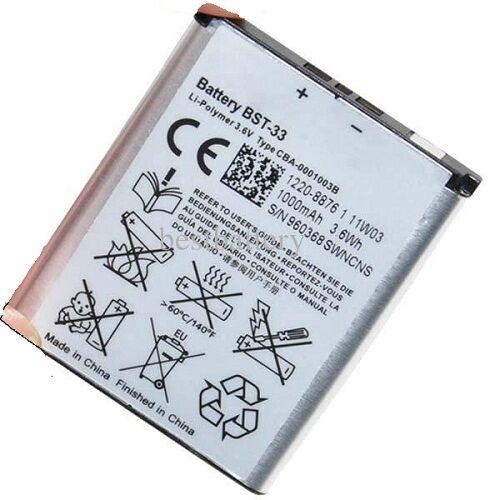 Gyári típusú akkumulátor Sony Ericsson Aino, W595, K800 típusú készülékhez, 1000 mAh (BST-33)