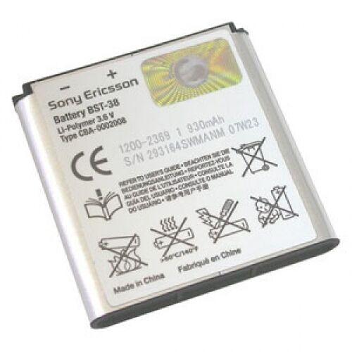 Gyári típusú akkumulátor Sony Ericsson Xperia X10 Mini Pro típusú készülékhez, 930 mAh (BST-38)