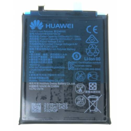 Gyári, eredeti akkumulátor Huawei Y6 (2019) (MRD-LX1F), Nova (CAN-L01), Y5 (2017) (MYAL02), Y6 (2017) (MYA-L11) típusú készülékhez, 3020 mAh (HB405979ECW)