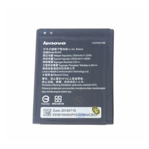 Gyári típusú akkumulátor Lenovo A7000 típusú készülékhez, 3000 mAh (BL243, 1/CP4/65/81)