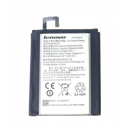 Gyári típusú akkumulátor Lenovo Vibe S1 típusú készülékhez, 2420 mAh (BL250, 1/CP4/59/76)