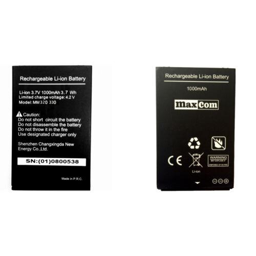 Gyári típusú akkumulátor Maxcom MM320, MM330 típusú készülékhez, 1000mAh