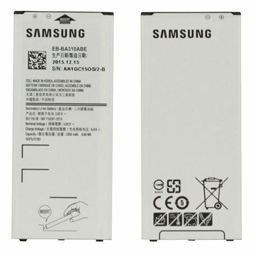 Gyári típusú akkumulátor Samsung Galaxy A3 (2016), (A310) típusú készülékhez, 2300 mAh (BA310ABE)