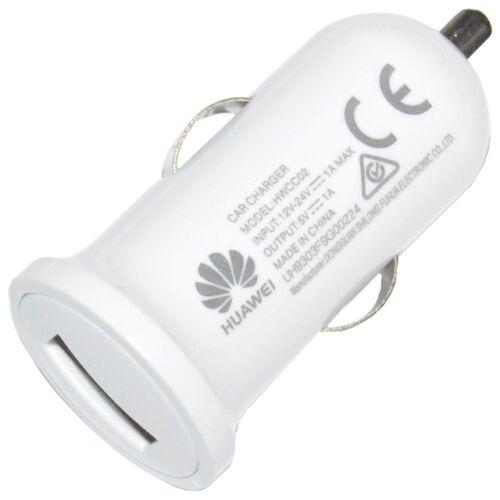 Huawei gyári típusú szivargyújtós töltő adapter 1A (HWCC02), fehér