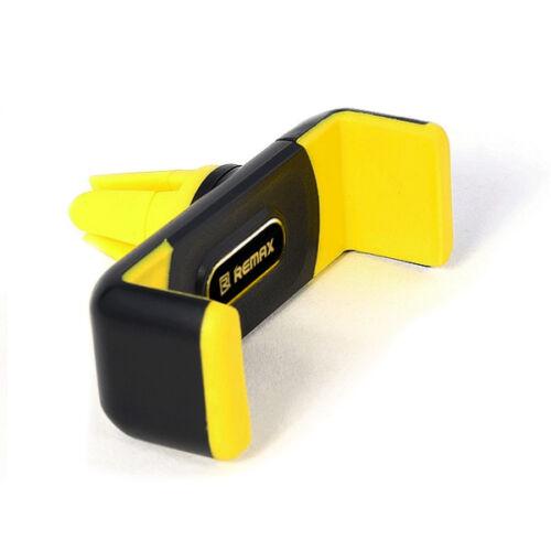 Remax állítható autós tartó, szellőző rácsba (RM-C01), fekete-sárga