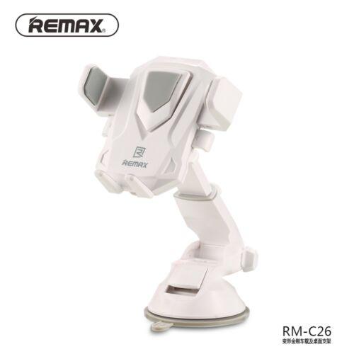 Remax állítható autós tartó, szilikonos tapadóval (RM-C26), fehér-szürke