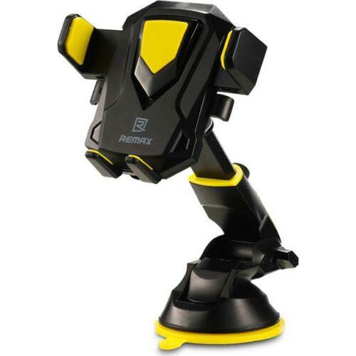 Remax állítható autós tartó, szilikonos tapadóval (RM-C26), fekete-sárga