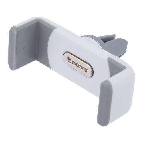 Remax állítható autós tartó, szellőző rácsba illeszthető (RM-C01), fehér-szürke