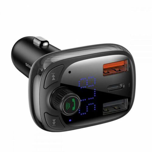 Baseus bluetooth FM transmitter és kihangosító CCTM-B01, gyors telefon töltéssel