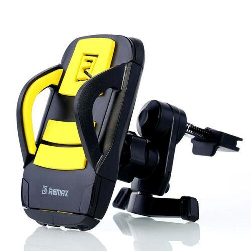 Remax állítható autós tartó, szellőző rácsba (RM-C03), fekete-sárga