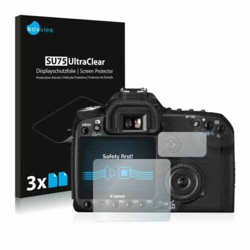 6db-os Savvies SU75 kijelzőfólia, Canon EOS 50D típusú fényképezőhöz