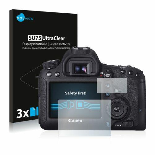 6db-os Savvies SU75 kijelzőfólia, Canon EOS 6D típusú fényképezőhöz