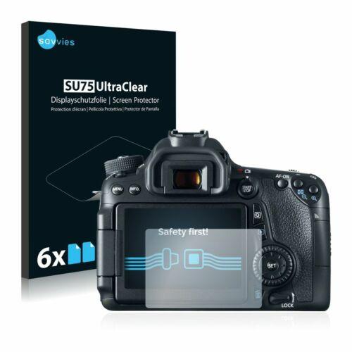 6db-os Savvies SU75 kijelzőfólia, Canon EOS 70D típusú fényképezőhöz