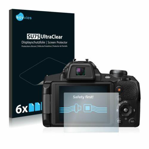 6db-os Savvies SU75 kijelzőfólia, FujiFilm FinePix S1 típusú fényképezőhöz