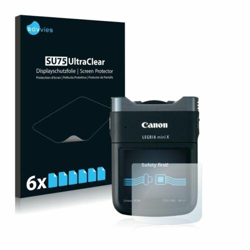6db-os Savvies SU75 kijelzőfólia, Canon Legria Mini X típusú fényképezőhöz
