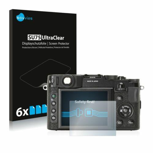 6db-os Savvies SU75 kijelzőfólia, FujiFilm X10 típusú fényképezőhöz