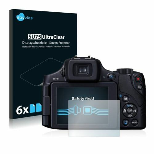 6db-os Savvies SU75 kijelzőfólia, Canon PowerShot SX60 HS típusú fényképezőhöz