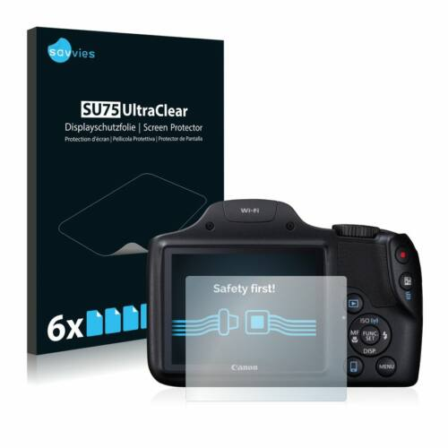 6db-os Savvies SU75 kijelzőfólia, Canon PowerShot SX530 HS típusú fényképezőhöz