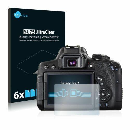 6db-os Savvies SU75 kijelzőfólia, Canon EOS 750D típusú fényképezőhöz