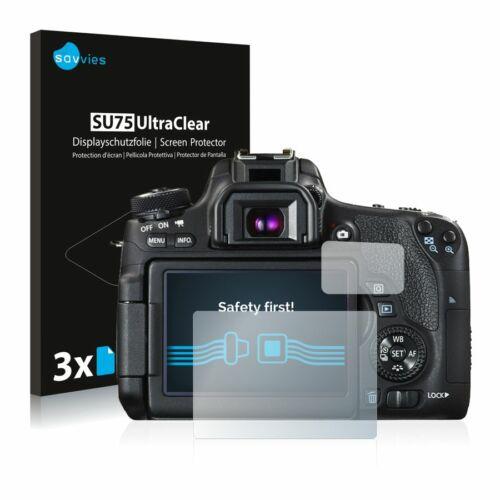 6db-os Savvies SU75 kijelzőfólia, Canon EOS 760D típusú fényképezőhöz