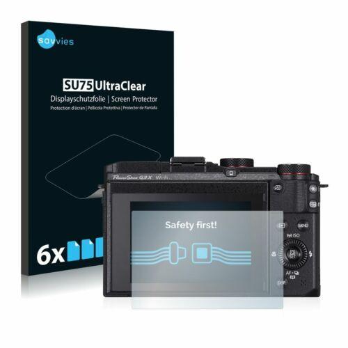 6db-os Savvies SU75 kijelzőfólia, Canon PowerShot G3 X típusú fényképezőhöz