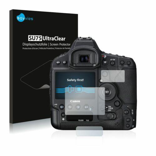 6db-os Savvies SU75 kijelzőfólia, Canon EOS 1D X Mark II típusú fényképezőhöz