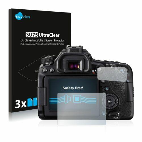 6db-os Savvies SU75 kijelzőfólia, Canon EOS 80D típusú fényképezőhöz