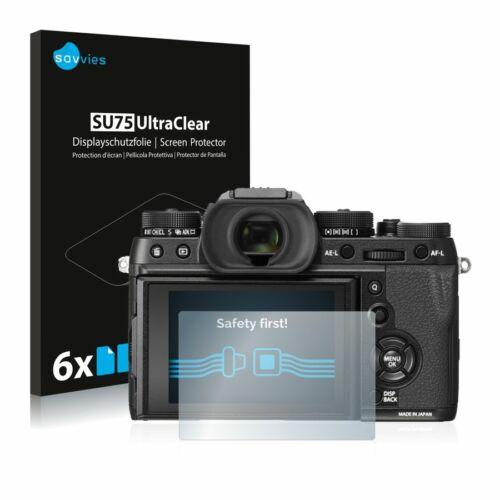 6db-os Savvies SU75 kijelzőfólia, FujiFilm X-T2 típusú fényképezőhöz