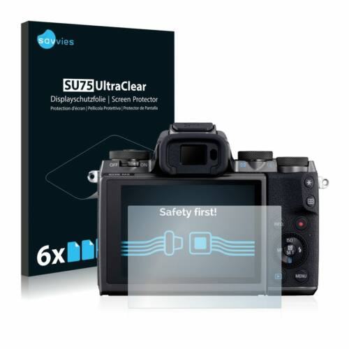 6db-os Savvies SU75 kijelzőfólia, Canon EOS M5 típusú fényképezőhöz