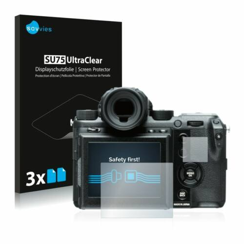 6db-os Savvies SU75 kijelzőfólia, FujiFilm GFX 50S típusú fényképezőhöz