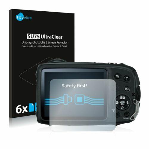 6db-os Savvies SU75 kijelzőfólia, FujiFilm FinePix  XP120 típusú fényképezőhöz