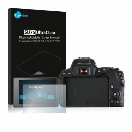6db-os Savvies SU75 kijelzőfólia, Canon EOS 200D típusú fényképezőhöz