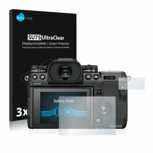 6db-os Savvies SU75 kijelzőfólia, FujiFilm X-H1 típusú fényképezőhöz