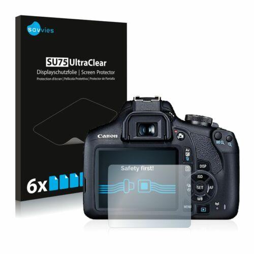 6db-os Savvies SU75 kijelzőfólia, Canon EOS 2000D típusú fényképezőhöz