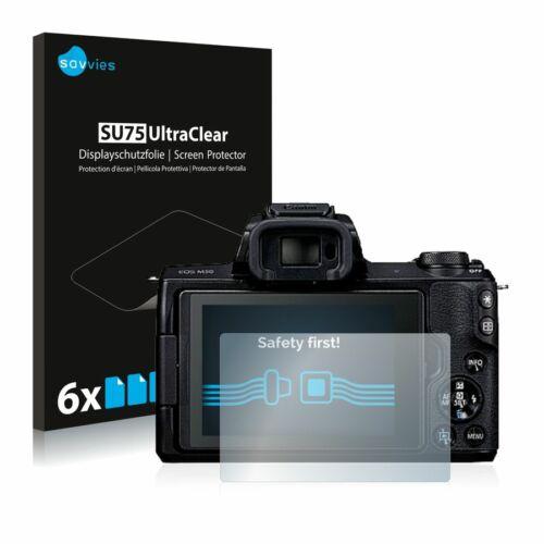 6db-os Savvies SU75 kijelzőfólia, Canon EOS M50 típusú fényképezőhöz