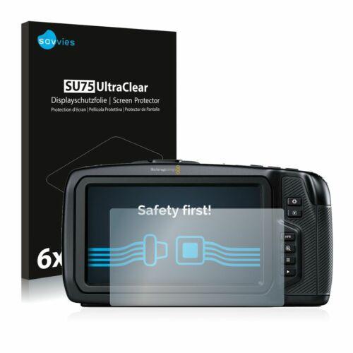6db-os Savvies SU75 kijelzőfólia, Blackmagic Pocket Cinema 4K Camera típusú fényképezőhöz