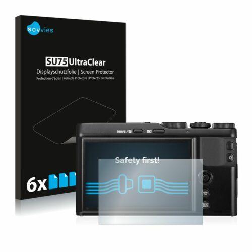 6db-os Savvies SU75 kijelzőfólia, FujiFilm XF10 típusú fényképezőhöz