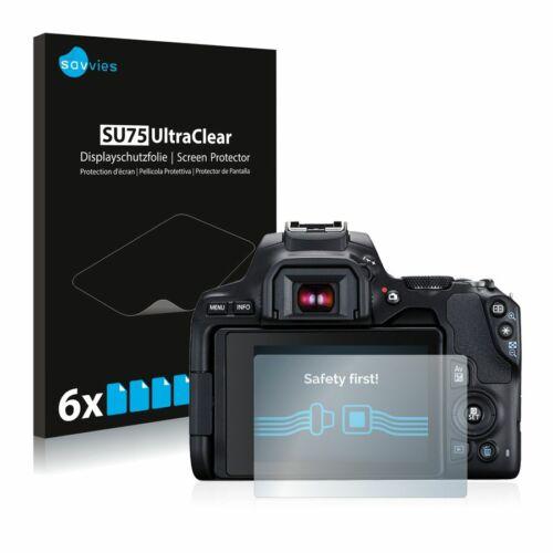 6db-os Savvies SU75 kijelzőfólia, Canon EOS 250D típusú fényképezőhöz