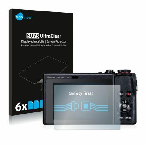 6db-os Savvies SU75 kijelzőfólia, Canon PowerShot G5 X Mark II típusú fényképezőhöz