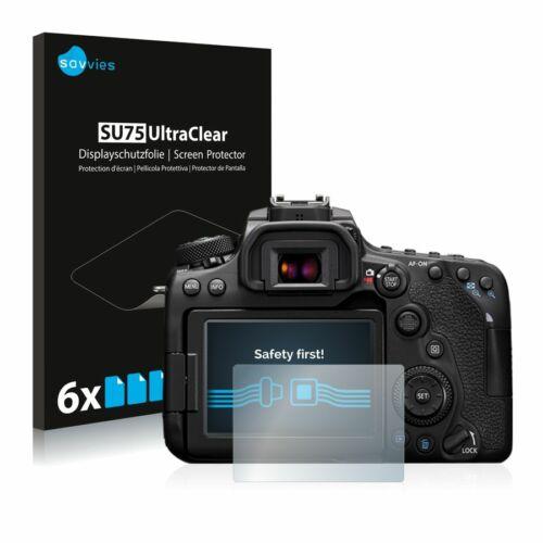 6db-os Savvies SU75 kijelzőfólia, Canon EOS 90D típusú fényképezőhöz