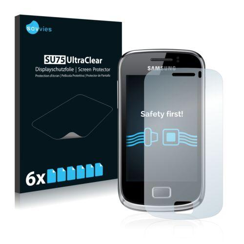 6db-os Savvies SU75 kijelzőfólia, Samsung Galaxy Mini 2 S6500 típusú telefonhoz