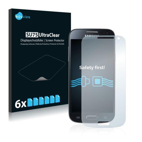 6db-os Savvies SU75 kijelzőfólia, Samsung Galaxy S4 Mini típusú telefonhoz