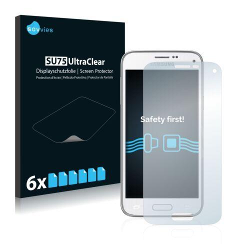6db-os Savvies SU75 kijelzőfólia, Samsung Galaxy S5 Mini SM-G800 típusú telefonhoz